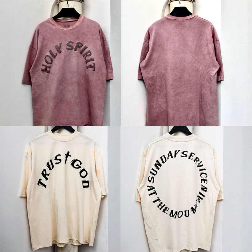 19ss New Holy Spirit T Shirt Kanye West Sunday Service Cpfm T Shirt 100 Cotton High Quality 1 1 Tshirts Men Women Summer Style Aliexpress In 2020 T Shirt Costumes