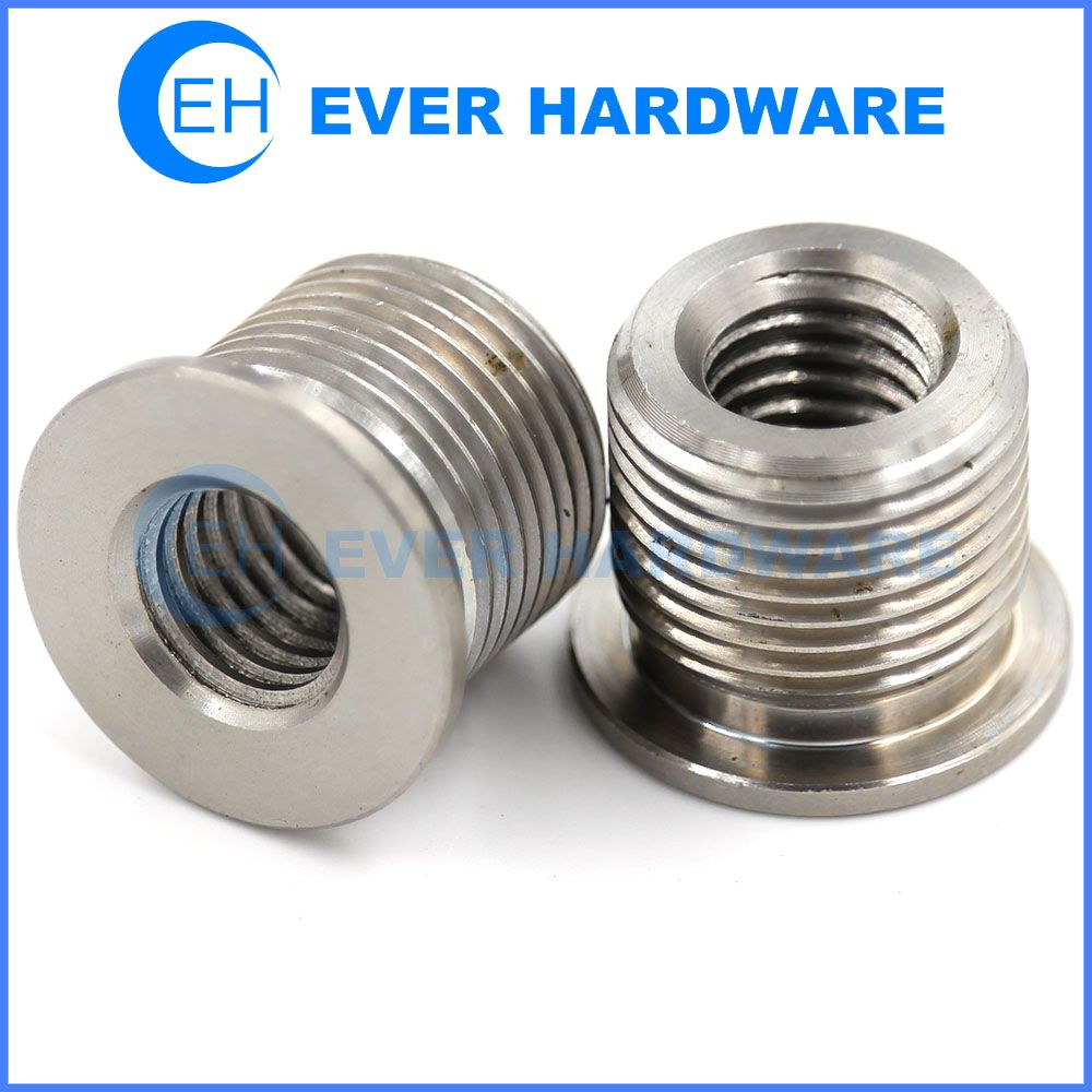 Double Threaded Nuts Precision Custom Made Stainless Steel Supplier Craft Show Ideas Metal Stripped Screw