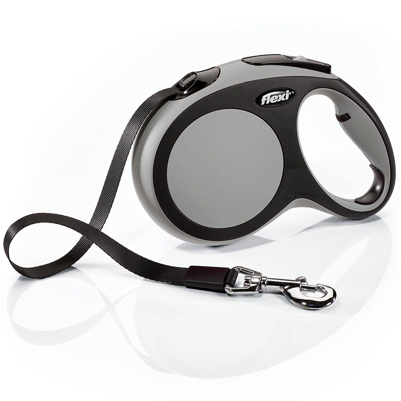 Flexi Comfort Retractable Dog Leash In Grey Large 16 Dog Leash
