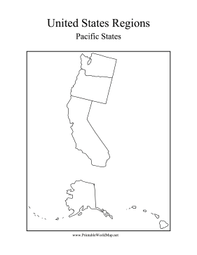 The States That Touch The Pacific Ocean Are Washington Oregon - Us And Pacific Countries Maps