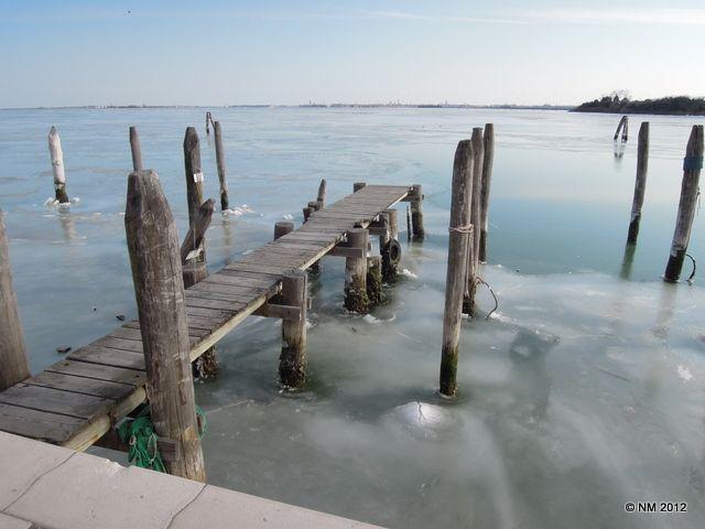 Frozen Venice Lagoon Italy