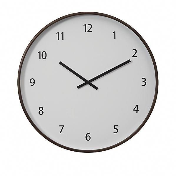 Lorne Wall Clock Crate And Barrel Homeremodelingkitchen