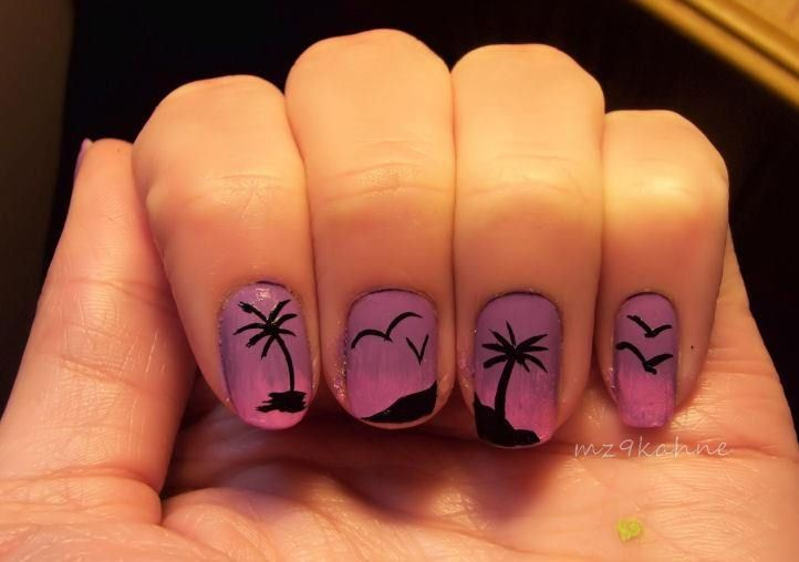 Sunset by from Nail Art Gallery - Sunset @Rebecca Becker Awesome Nail Ideas! Pinterest Nail Art