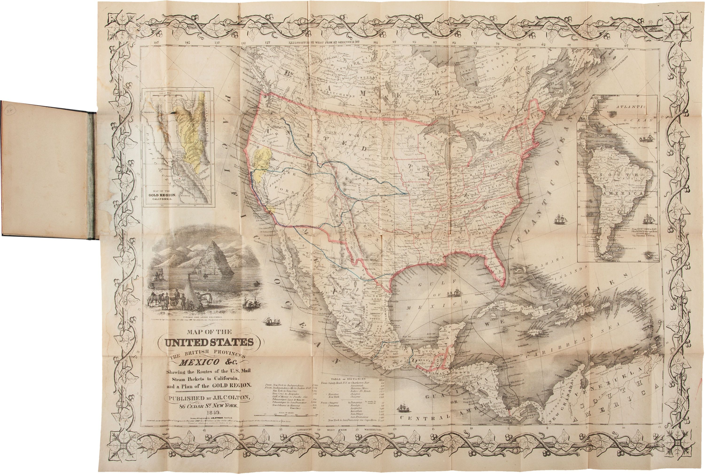 Map Of The United States The British Provinces Mexico C Showing