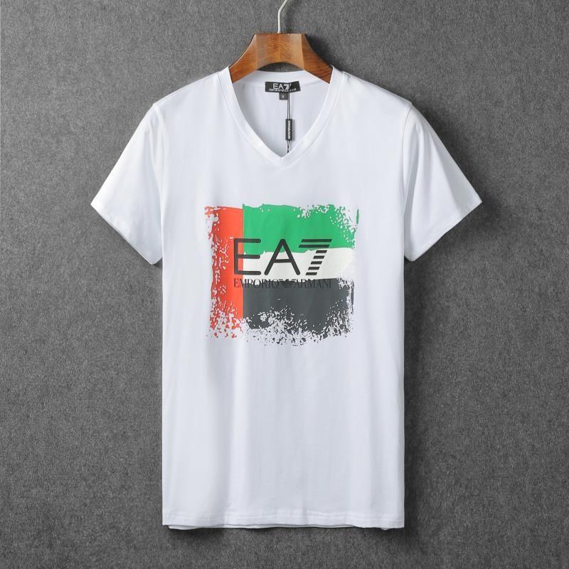 Armani Mens Short Sleeve T-Shirts, Replica Polos & Tops, 100% Cotton