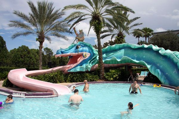 Doubloon Lagoon at Disney's Port Orleans French Quarter #DisneyResort #DisneyWorld #Pool #Waterslide #POFQ