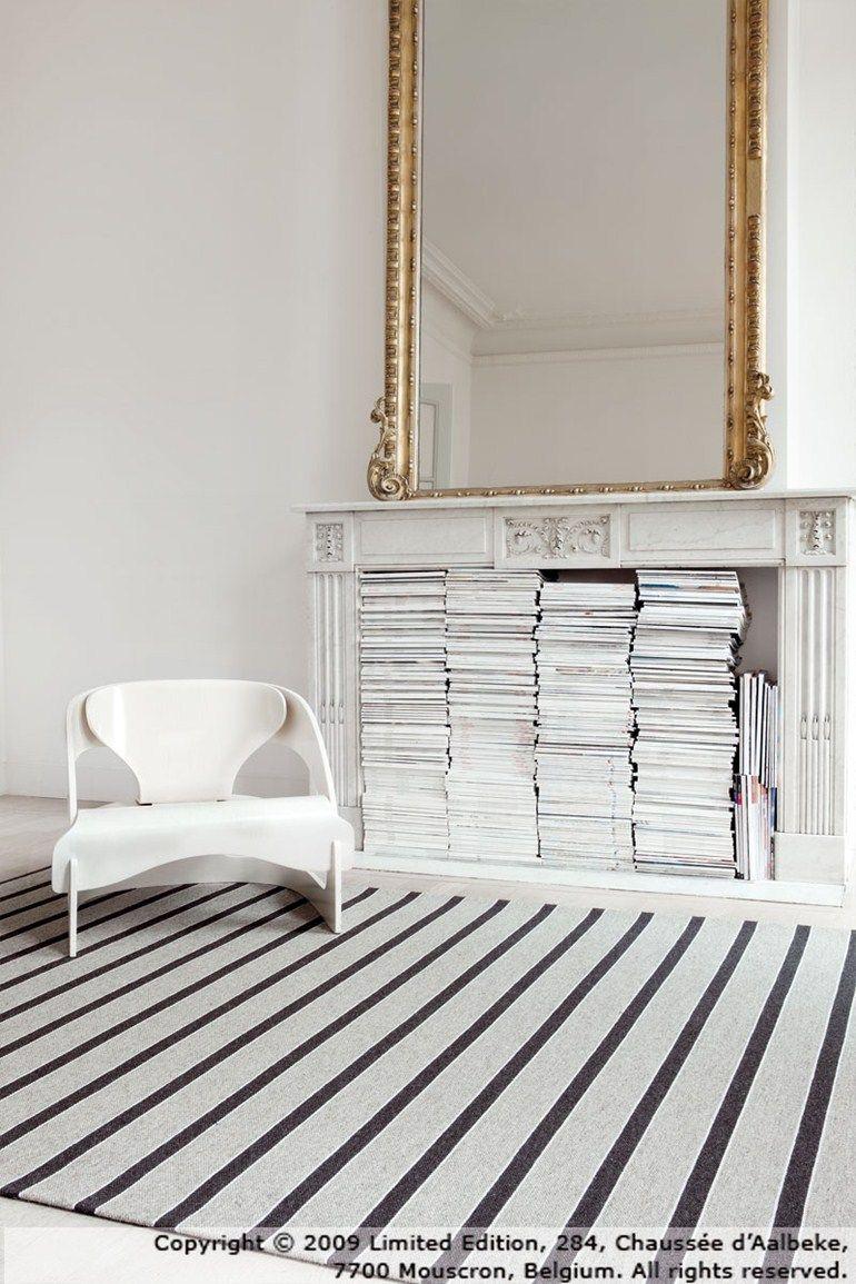 Striped rectangular wool rug TRIBU ZEN Tribu Collection