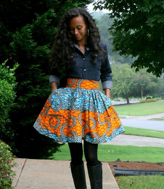 7e48959af5 Melange Mode African Print Flirty Skirt by MelangeMode on Etsy ...