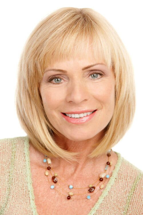 Youthful hairstyles over 50 with bangs