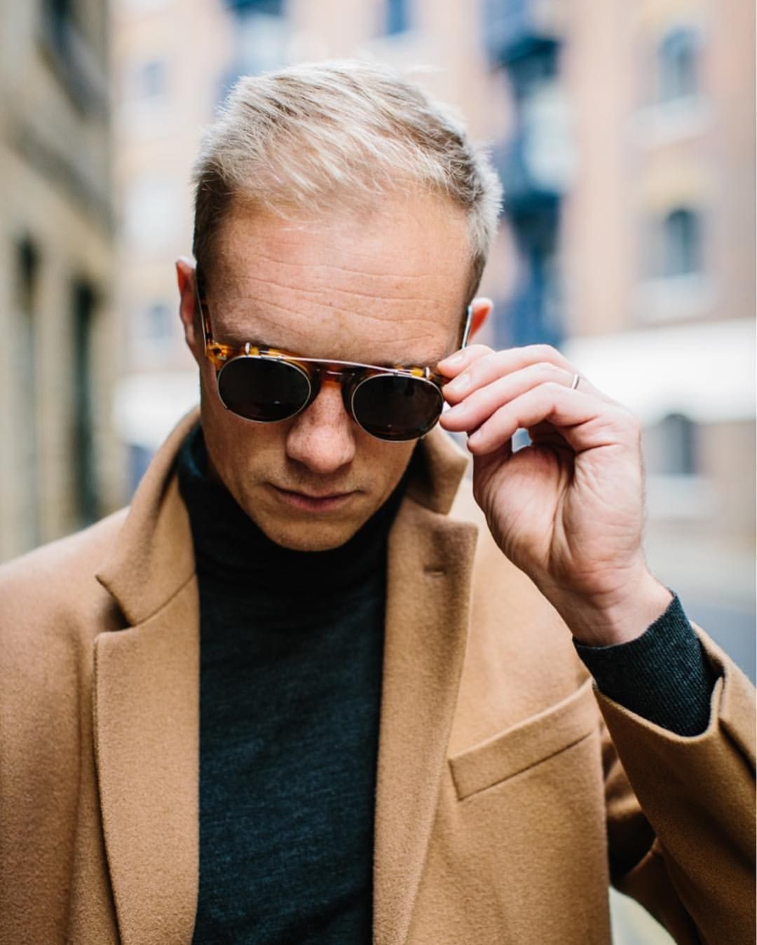 16dfe163ca THE BESPOKE DUDES EYEWEAR — Great shot of  eddiewalsh wearing our  Pleat  amber.