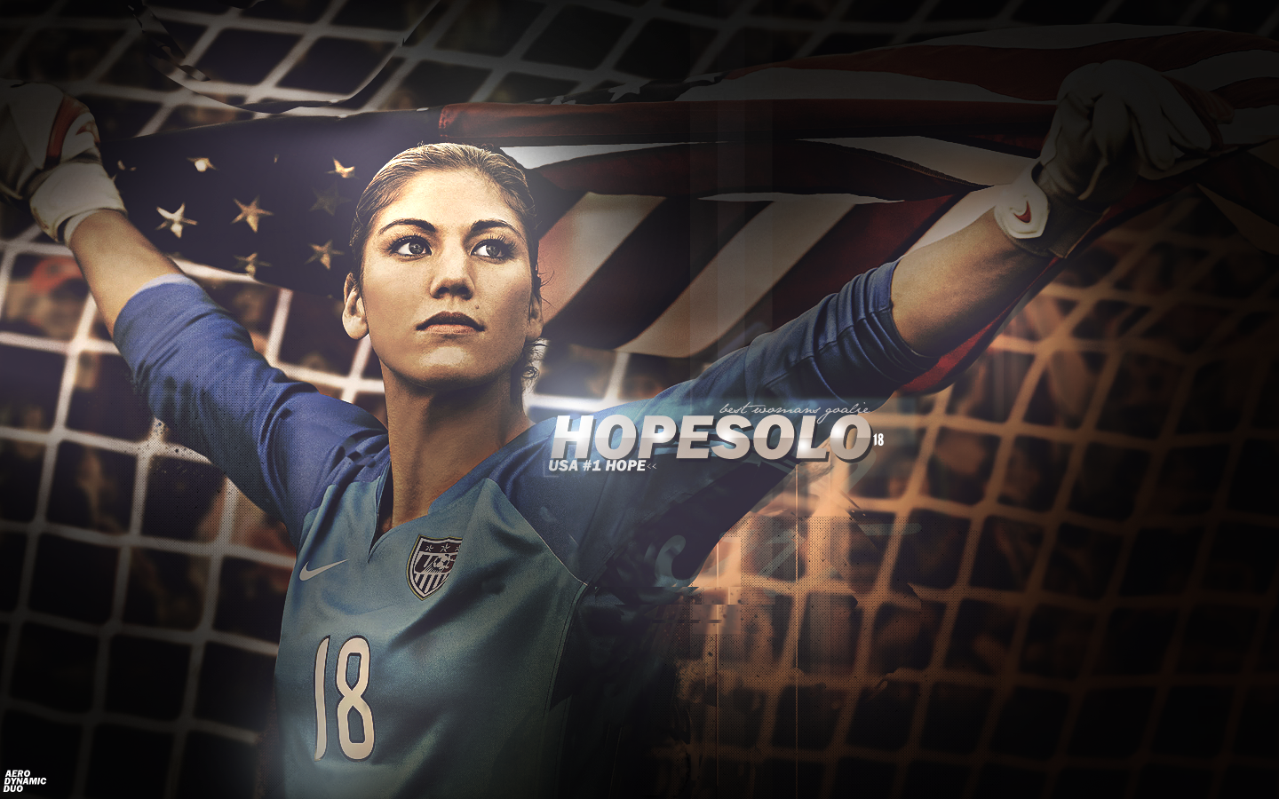 hope solo wallpaper hd with flag | fitness | hope solo, soccer und