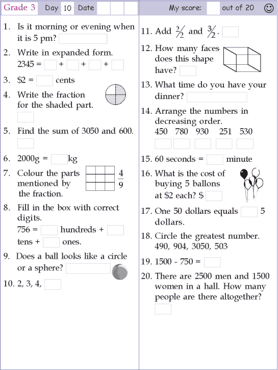 Mental Math Grade 3 Day 10 Mental Math Mental Maths Worksheets Kids Math Worksheets