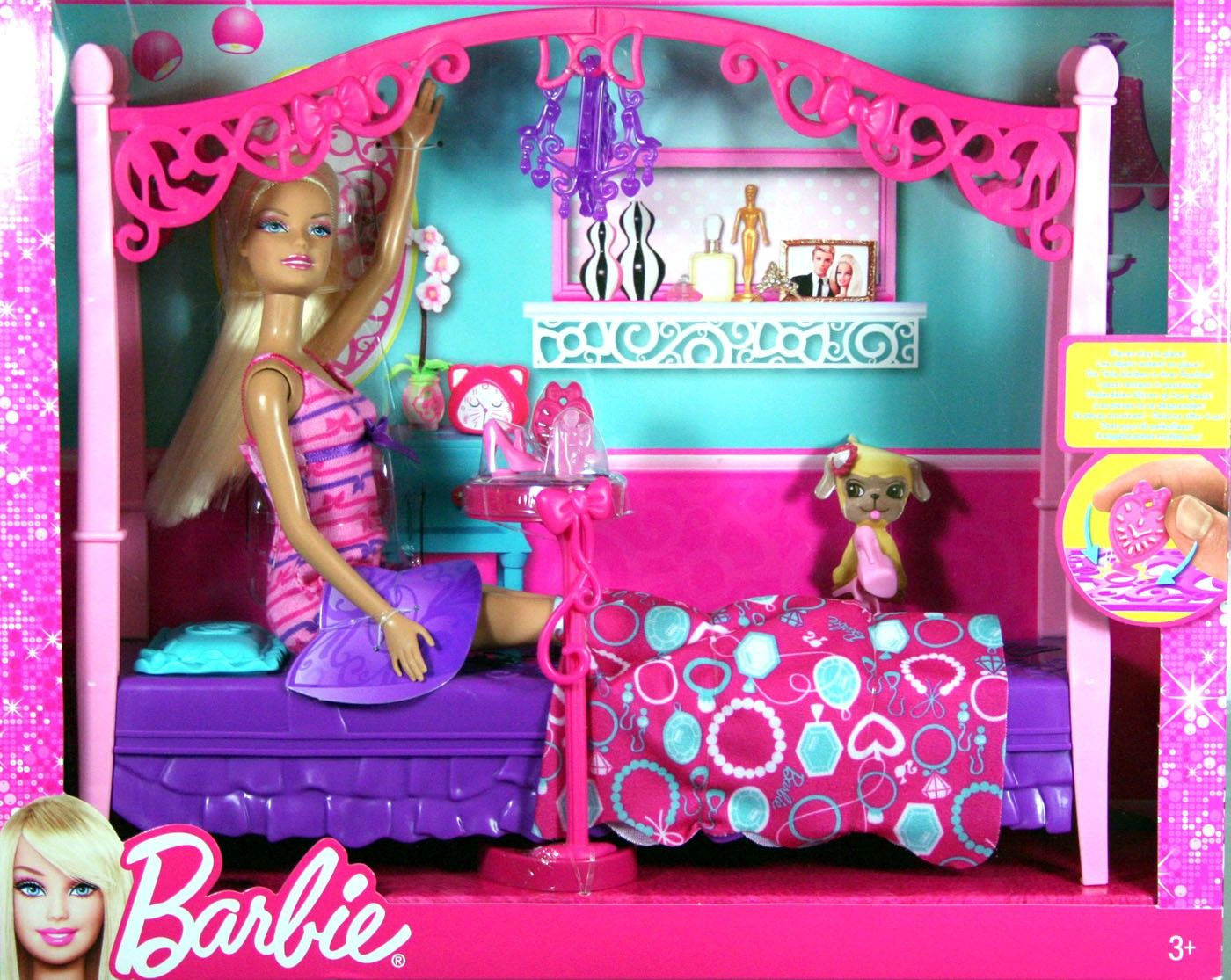 Barbie Puppe Schlafzimmer Set, Bett, Möbel, Mattel X7941 | Barbie ...