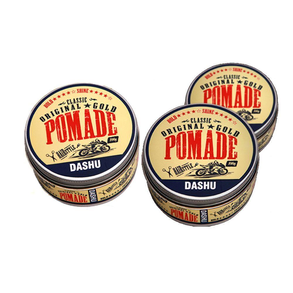 Dashu Classic Original Gold Pomade 100ml Water Based Hair Wax X 3ea Murrays Edgewax Black Extreme Hold 3 Pieces