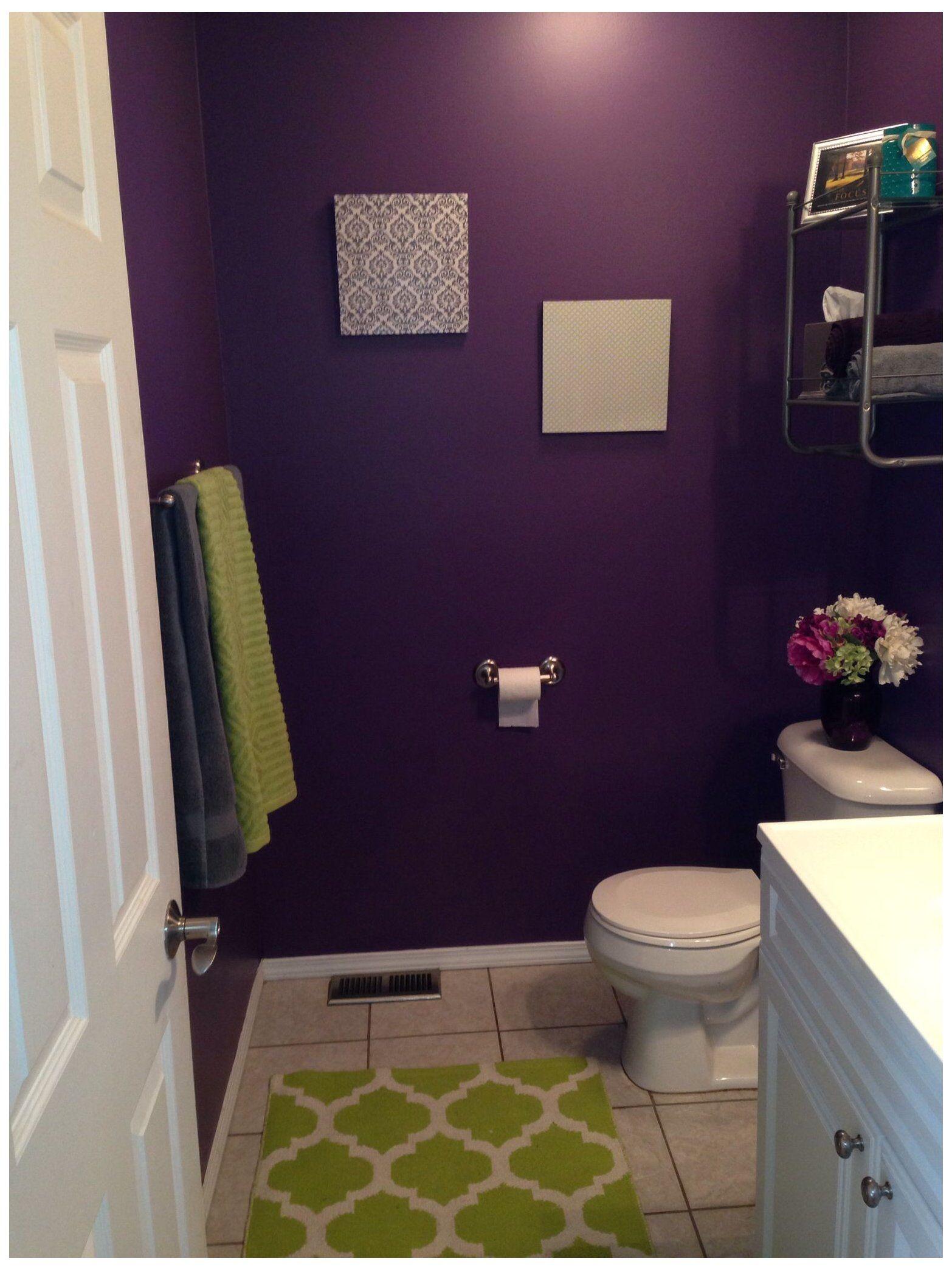Purple Bathroom Decor, Purple And Green Bathroom Decor