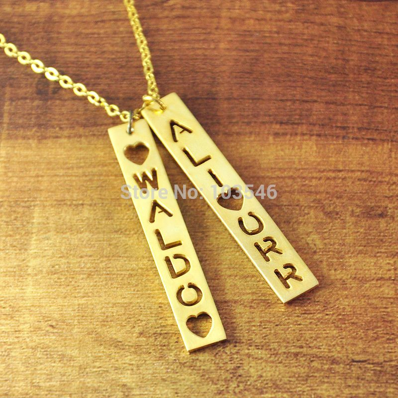 of name made solid pendant chain by home customised customise copy gold custom necklace products rope set size mbrilliance