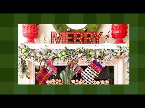 DECK THE MANTEL #christmas #merrychristmas #farmhousechristmas - YouTube