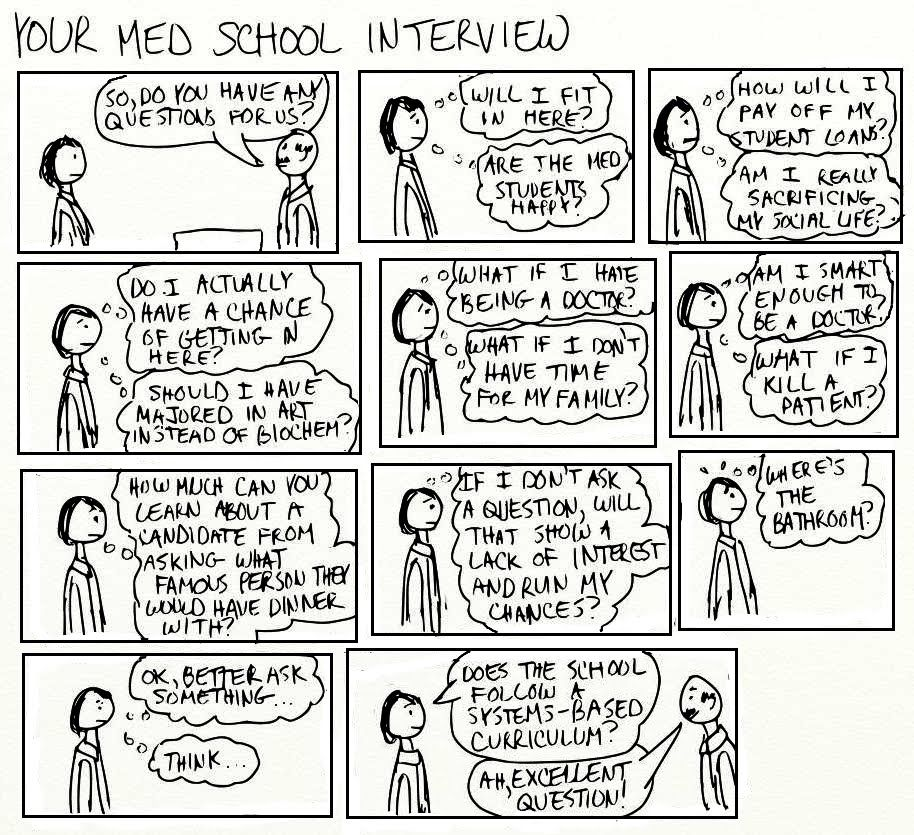 A Cartoon Guide to Becoming a Doctor: Interview questions