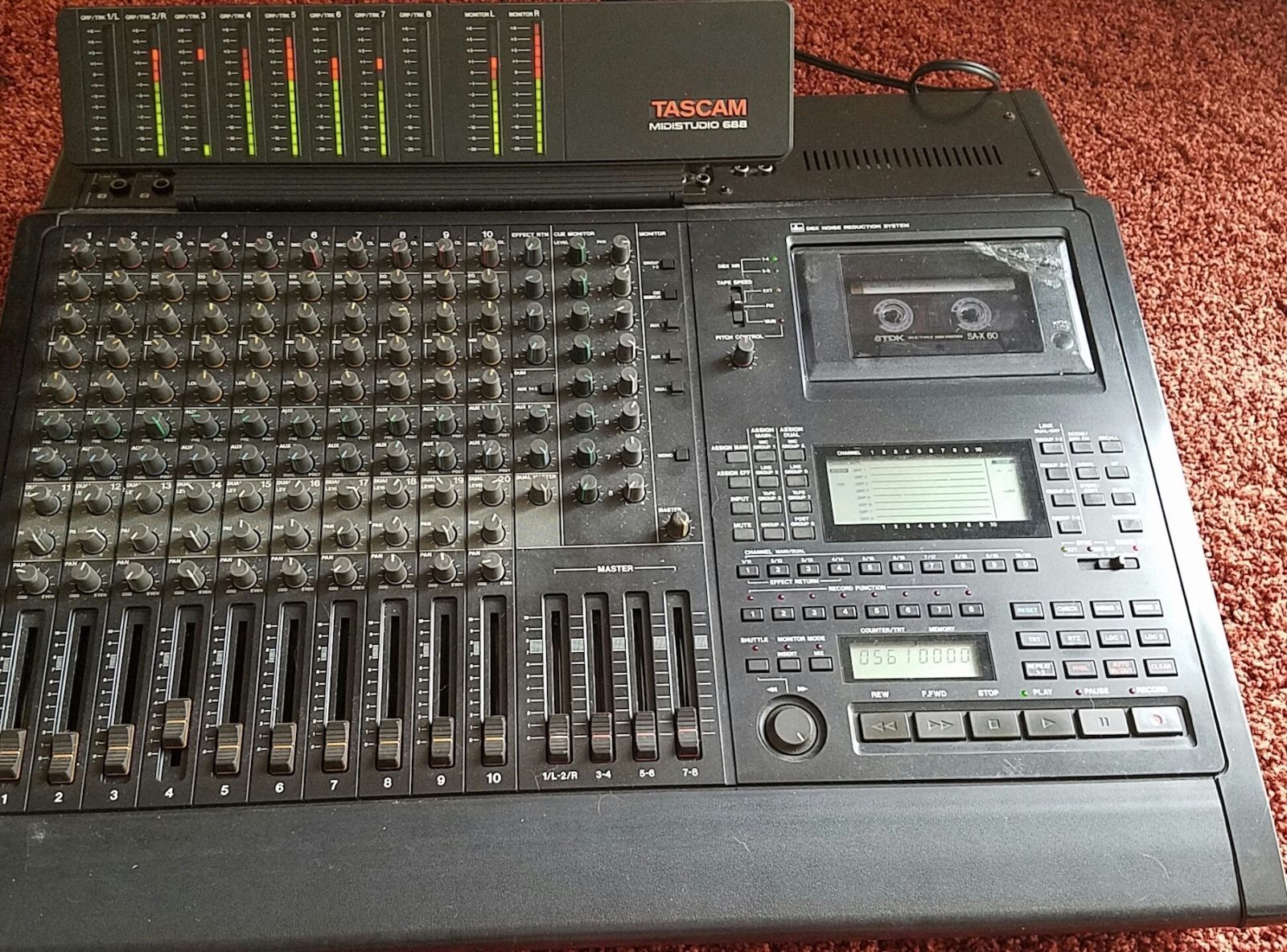 Tascam 688 8 Track Midi Studioog Recorder