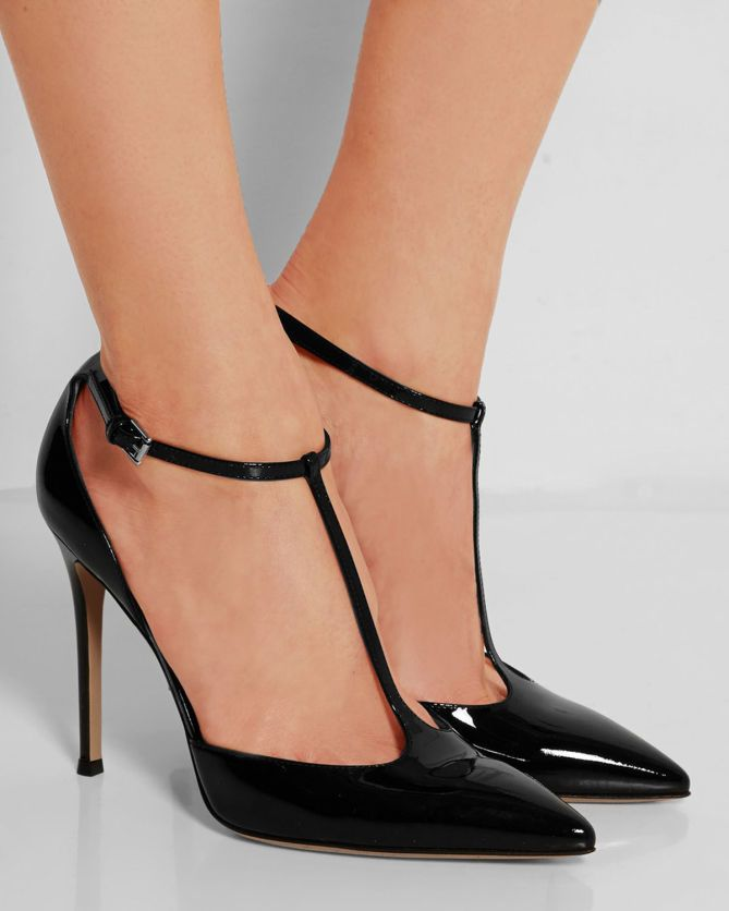 Gianvito Rossi Patent Leather T Bar Pumps Shoes Post My Desired Pinterest Evening Outfits And Clic