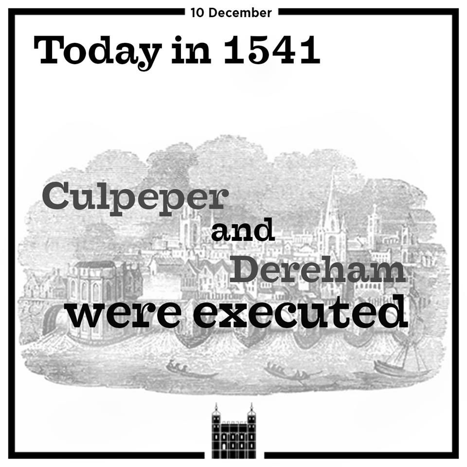 12/10/1541, Thomas Culpepper And Sir Francis Dereham Were