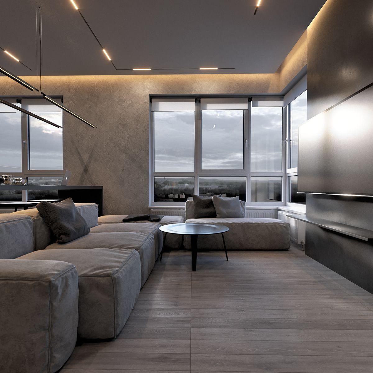 ZARICHNYJ_1 on Behance Home room design, Modern white