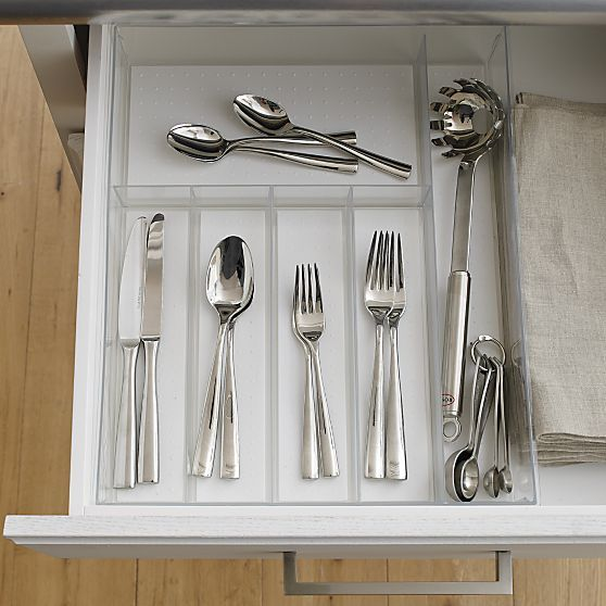 Madesmart Clear Drawer Organizer Crate And Barrel Food Storage Containers Drawer Organisers