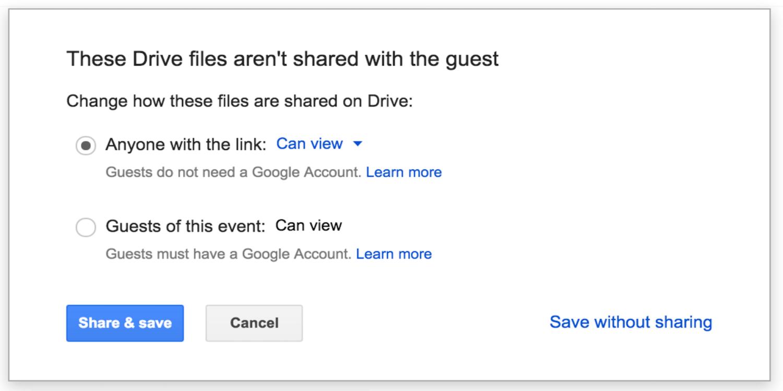 GoogleApps users get enhanced GoogleDrive file sharing