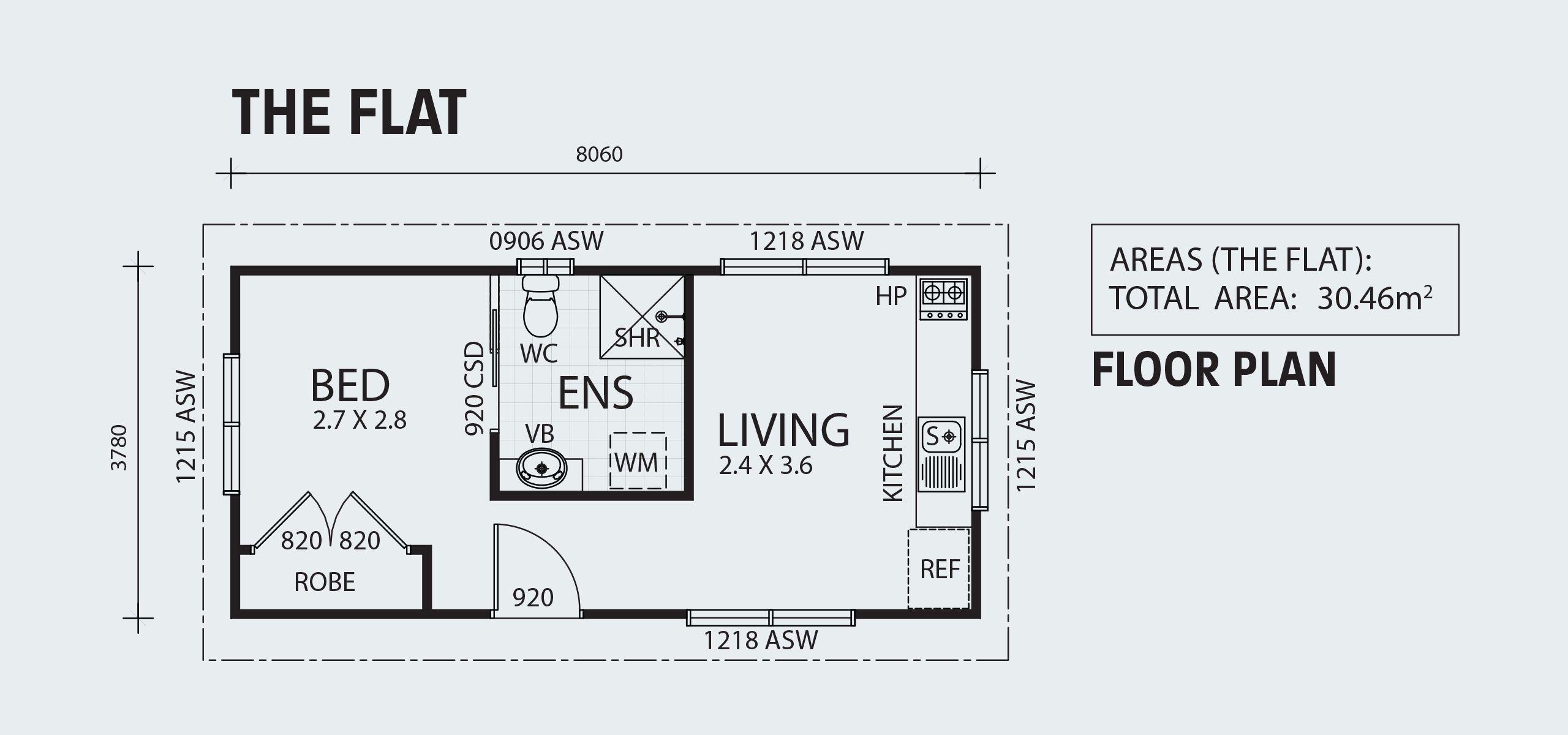 Backyard Shacks The Flat Floor Plans Kit Home Granny Flat