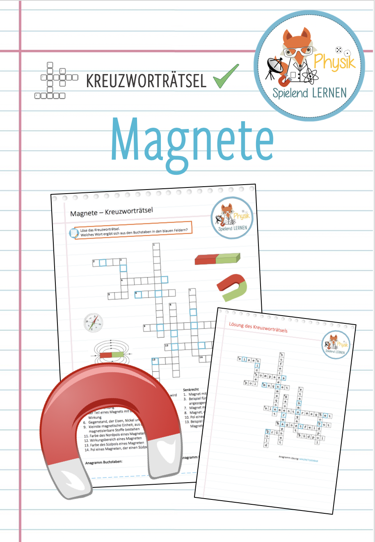 Magnete Kreuzwortratsel Unterrichtsmaterial In Den Fachern Fachubergreifendes Physik Unterrichtsmaterial Physik Kreuzwortratsel