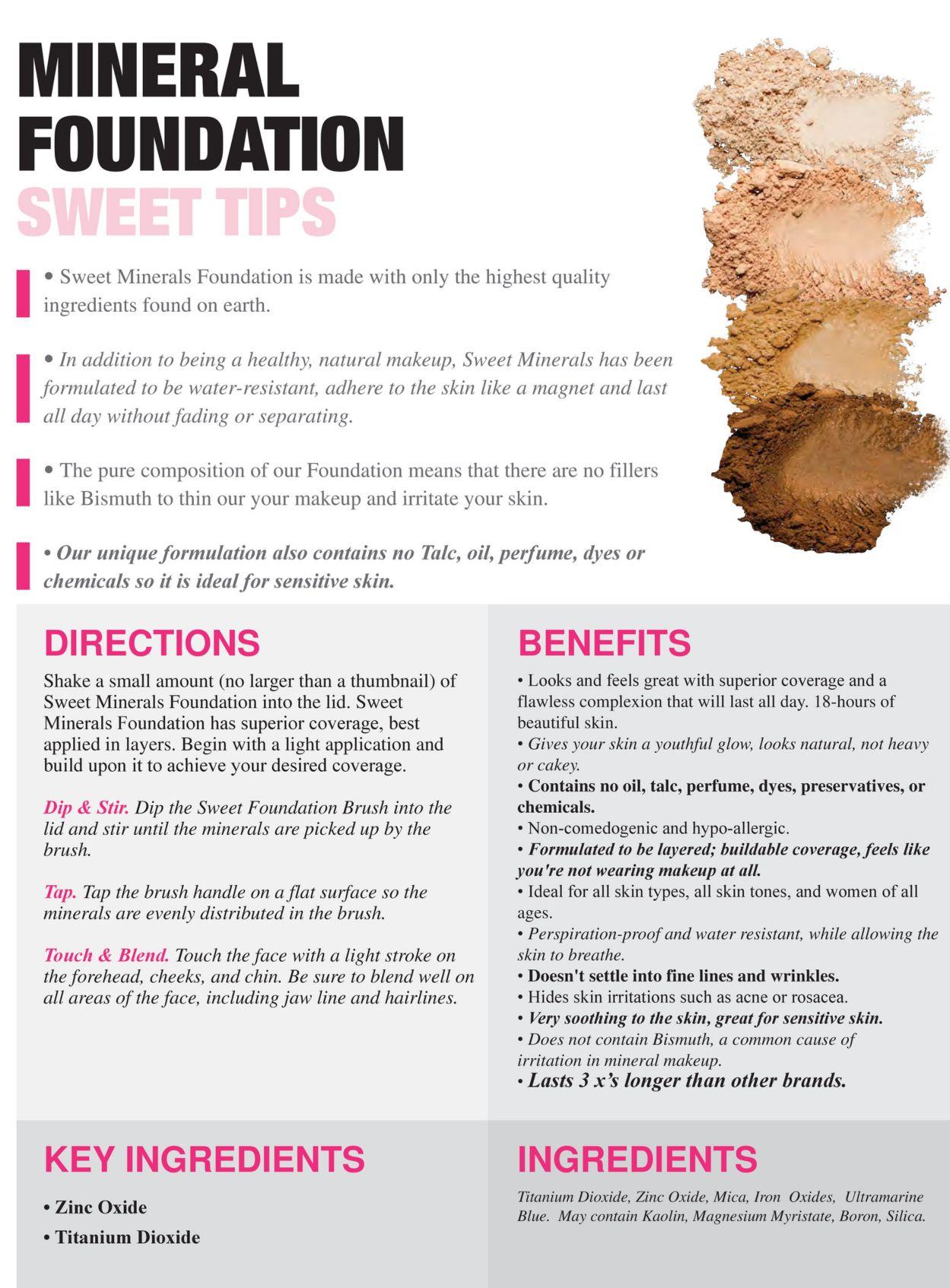 Natural Mineral Foundation Mineral sunscreen, Natural