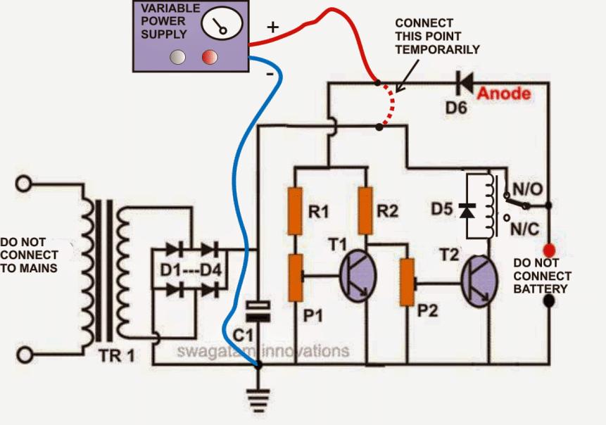 Self Regulating Battery Charger Circuit In 2020 With Images Battery Charger Circuit Circuit Projects Voltage Regulator