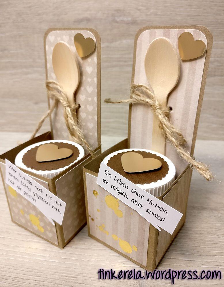 2 Mini Nutella Boxen Mit Anleitung Nutella Nutella Produkte