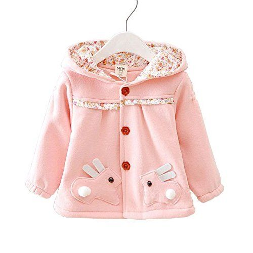 Baby Girls Toddler Kids Winter Big Ears Hoodie Jackets Outerwear Coats Red 9 12 Months M 6 Kids Outfits Girls Jacket Kids Fashion Girl
