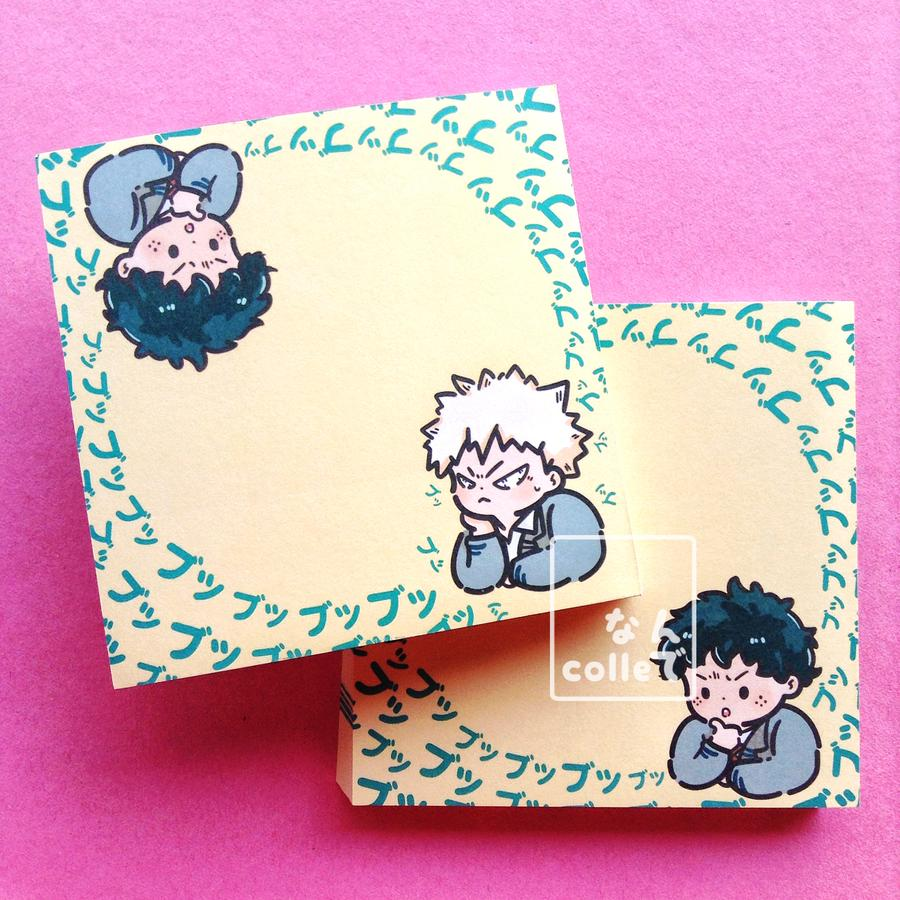 [Memo Pad] Deku Mumbling Sticky notes, Anime, Coloring