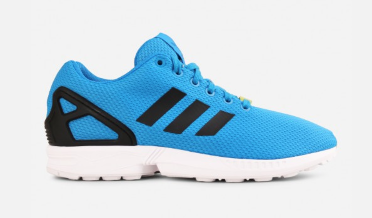 the latest 9e538 4e752 Sleek and comfortable, the Adidas ZX Flux (Blue). | Blue ...