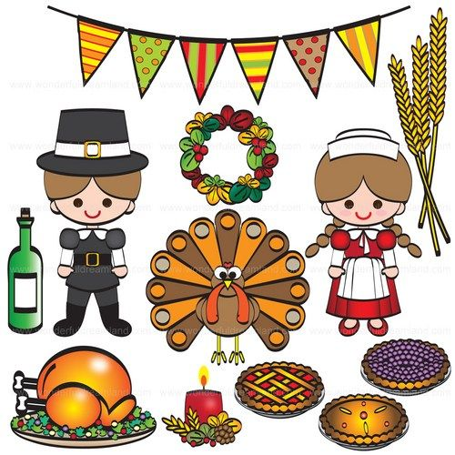 Thanksgiving free printable. Dinner clip art day