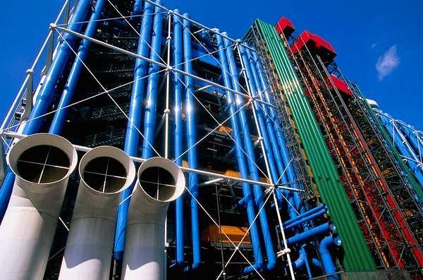 Pompidou art center beaubourg paris musee museum - Centre george pompidou architecture ...