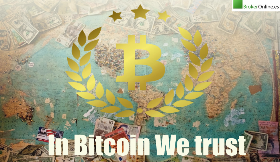 infografía que reza: in Bitcoin we trust