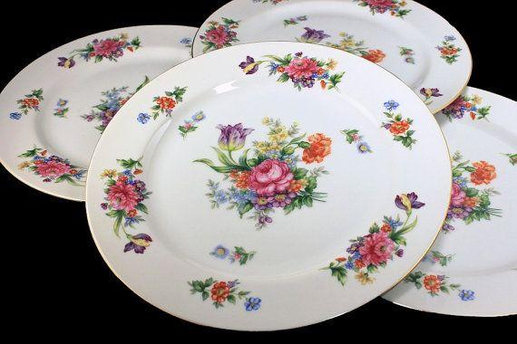 Dinner Plates Sango China Occupied Japan Floradel Floral