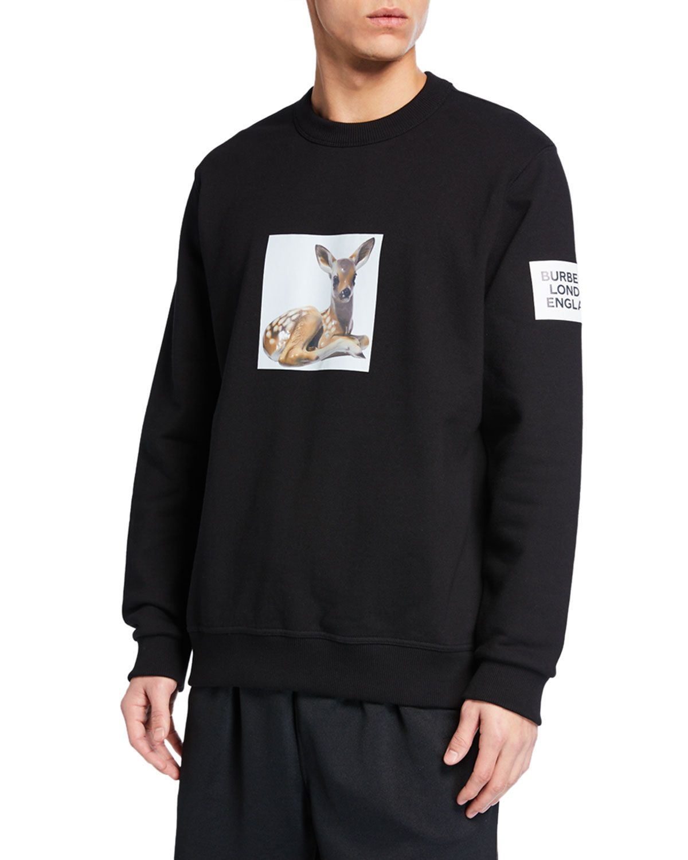 Burberry Men's Fairhall Fawn Graphic Sweatshirt