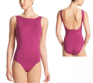 12a376284ebd Danskin leotard with a classic boat neck and low back.