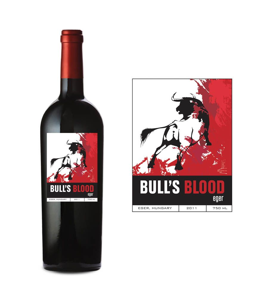 This Label We Designed Took The Bull By The Horns Hungarian Wines Wine Wine Label Design