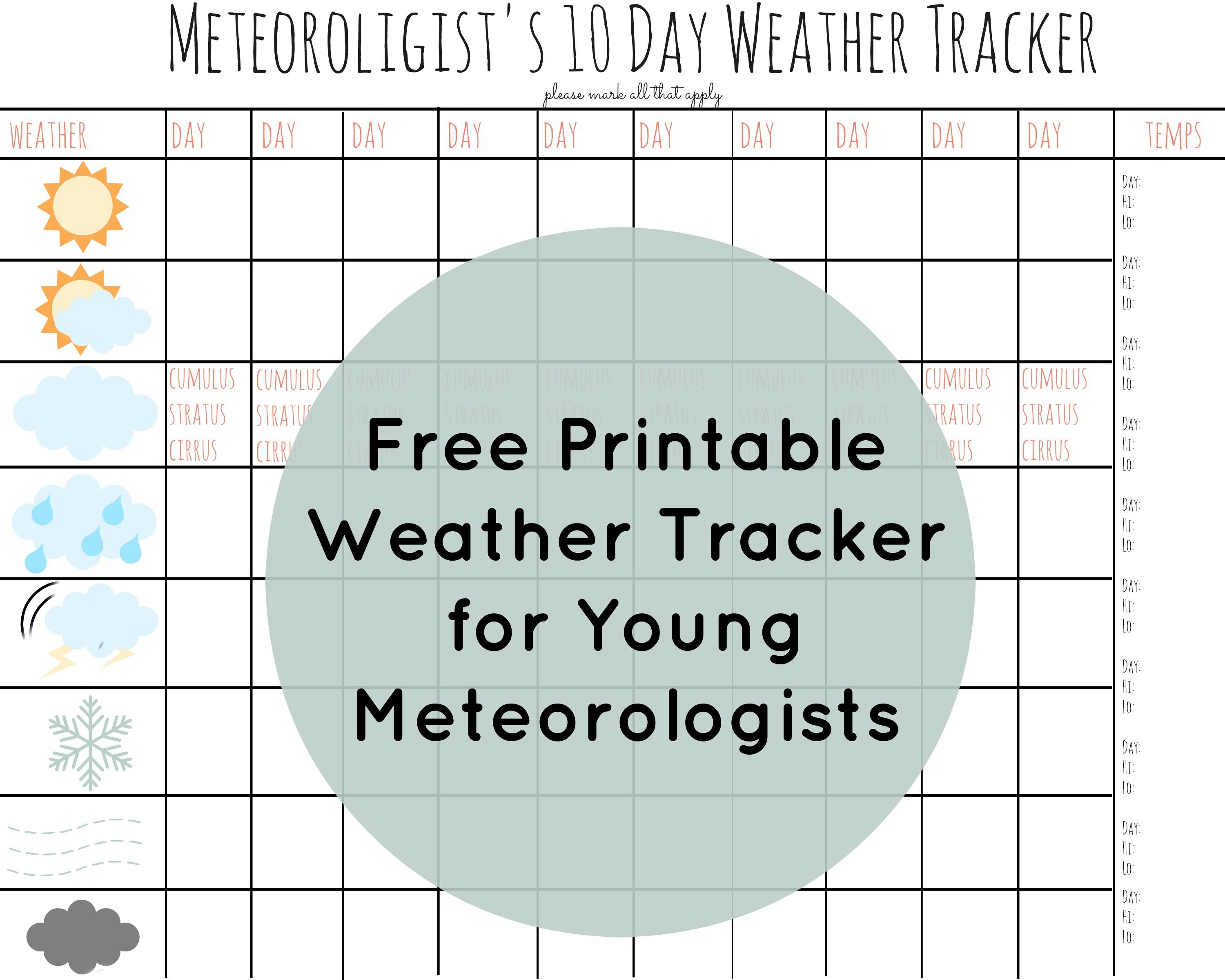 Free printable weather chart for kids. | Lesson Plans! | Pinterest ...