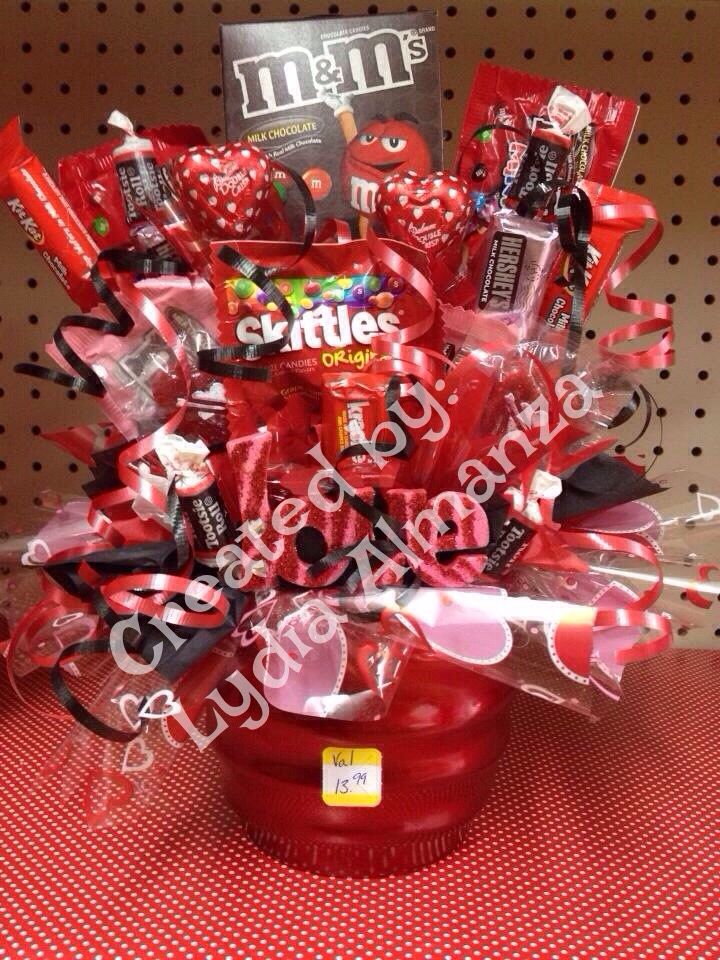 Valentine Candy Bouquet My Creations Pinterest Candy Bouquet