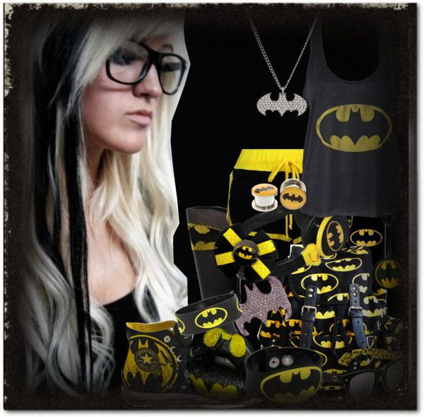 """BATMAN"" by blacksapphire ❤ liked on Polyvore"