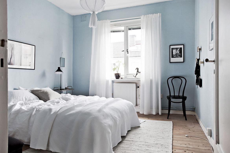 Schlafzimmer Blau ~ Innendesign in blau und weiß frische farben wirken entspannend