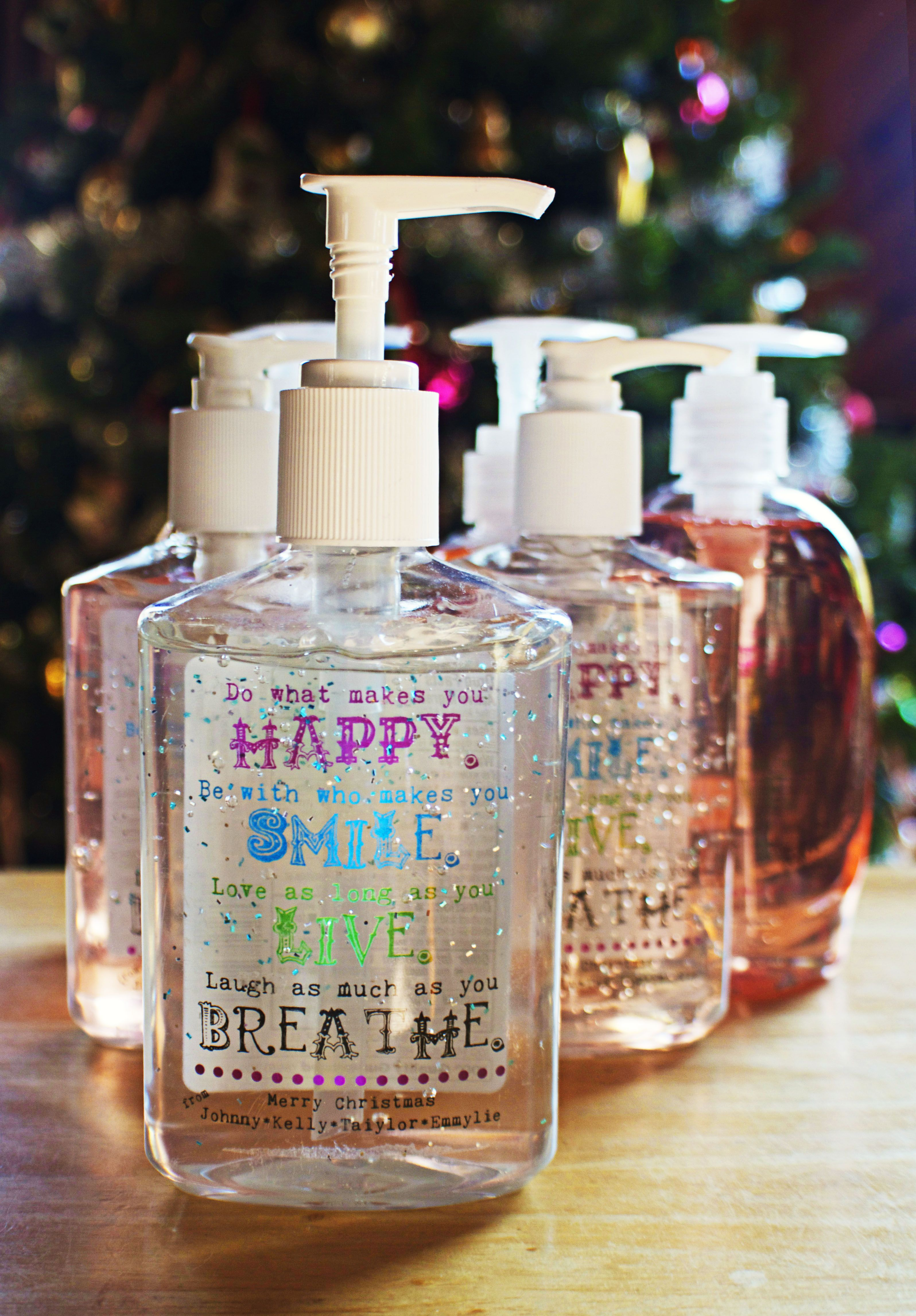 Customized Dollar Store Hand Soaps Sanitizers With A Cute Design