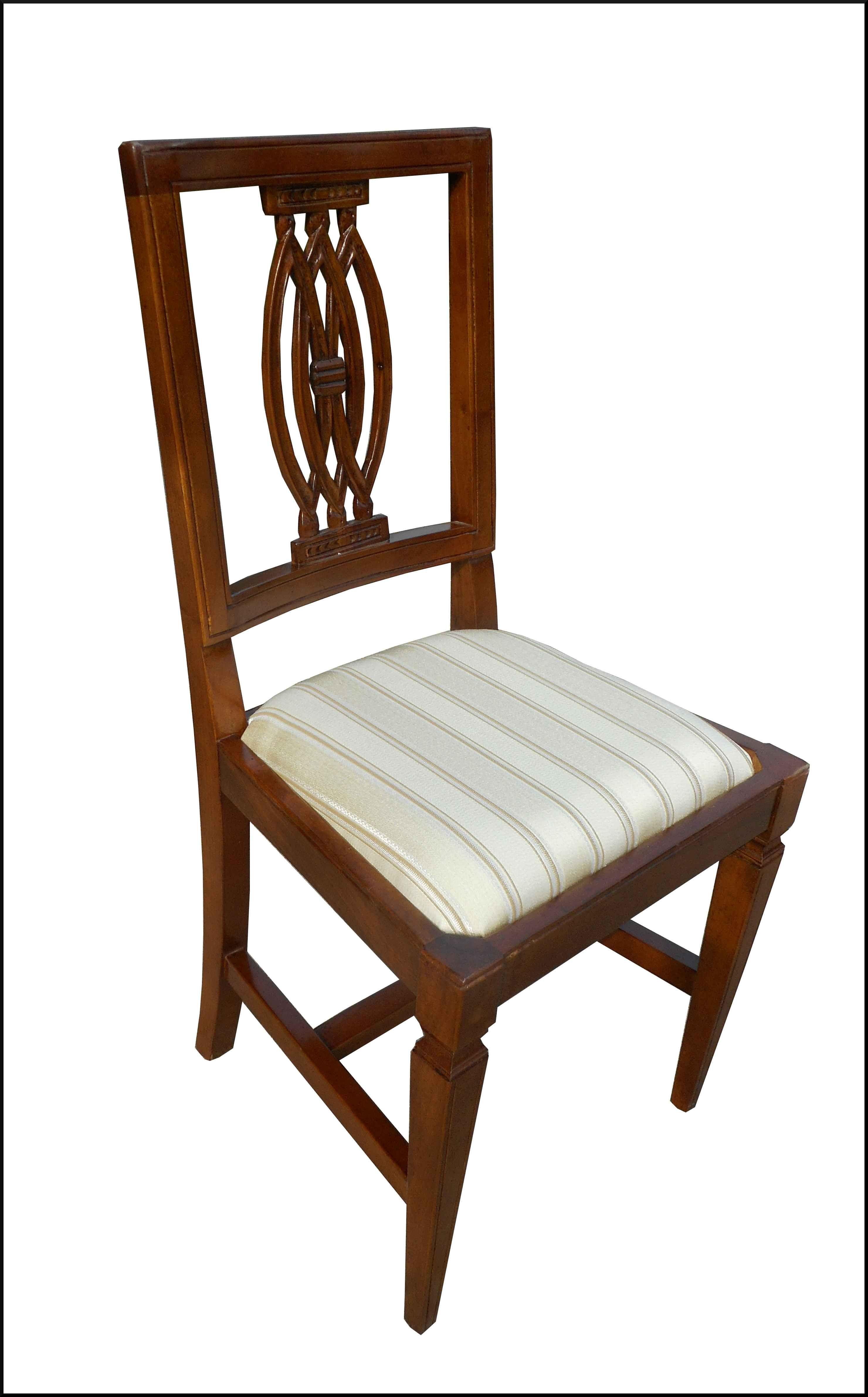 Sedia classica con seduta in stoffa n° prodotto 1435