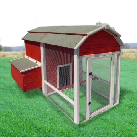 Precision old red barn chicken coop 8 chicken capacity for Big chicken tractor